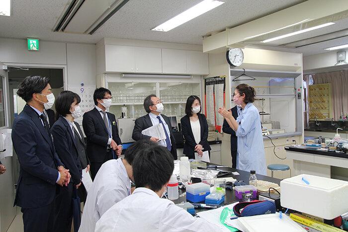 文部科学省視察のようす3 東京テクニカルカレッジ